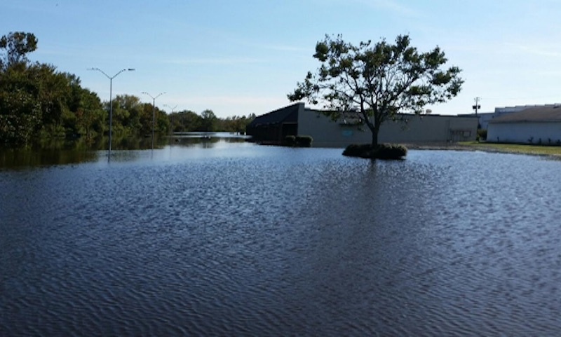 Flood in Kinston resulting from Hurricane Matthew